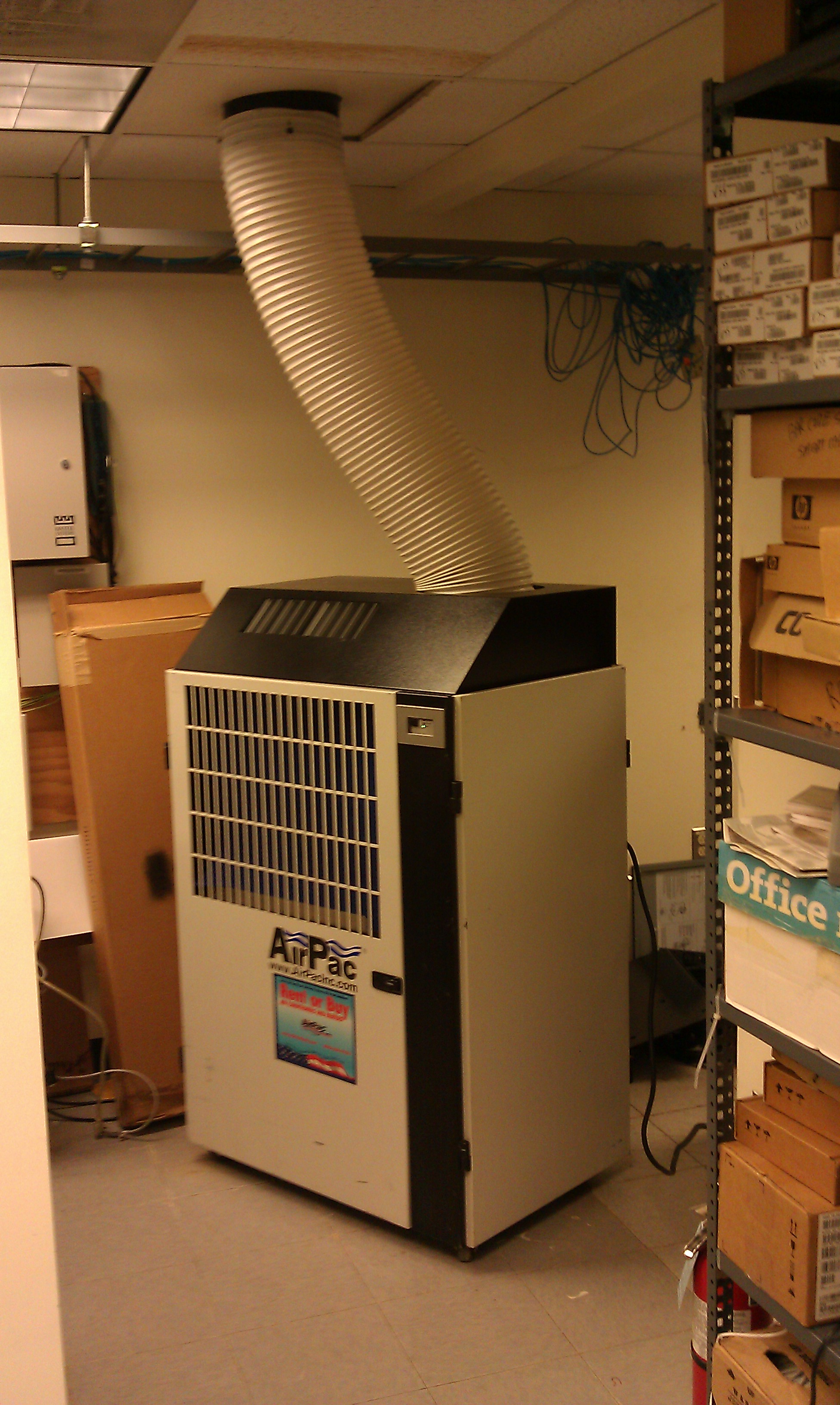 Portable Air Conditioner - Low Cost Cooling Option for Server Rooms