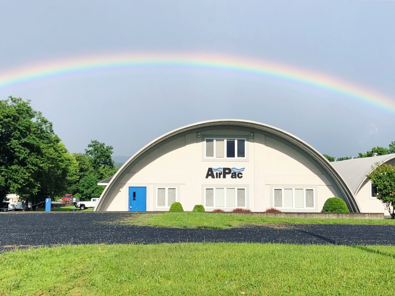 AirPac office with rainbow