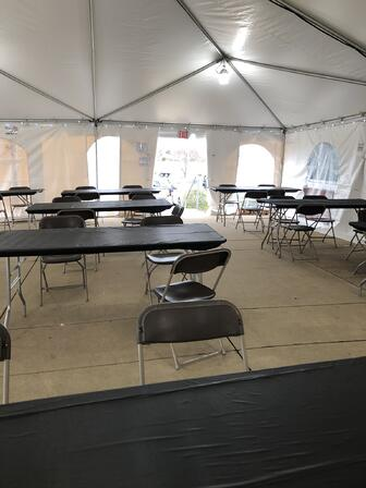 Social Distance Break Room Tent with AC